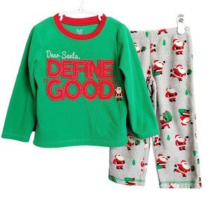 ☘️3/$30☘️ CARTER'S Christmas Fleece PJs 3T